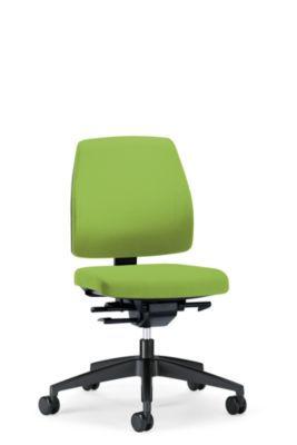 interstuhl Bürodrehstuhl GOAL, Rückenlehnenhöhe 430 mm - Gestell schwarz, mit harten Rollen