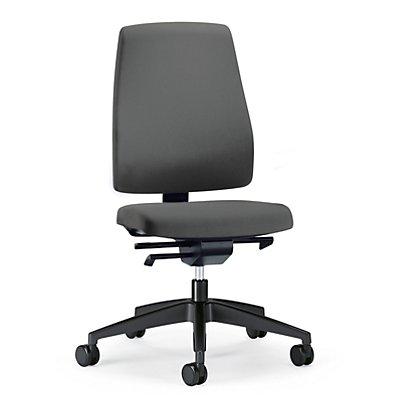 interstuhl Bürodrehstuhl GOAL, Rückenlehnenhöhe 530 mm - Gestell schwarz, mit harten Rollen