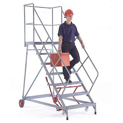 Plattformtreppe - mit 3-seitigem Podestgeländer