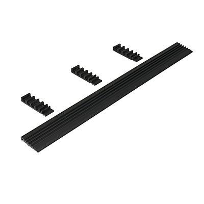Kante abgeschrägt - für Industriematte - pro lfd. m, schwarz, für Längsseite