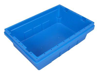 Transportbehälter, Breite 330 mm, VE 4 Stk - Höhe 137 mm, blau