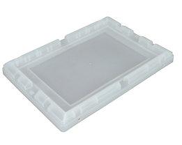 Behälterdeckel, Polypropylen - BxLxH 330 x 480 x 46,5 mm, VE 4 Stk, transparent