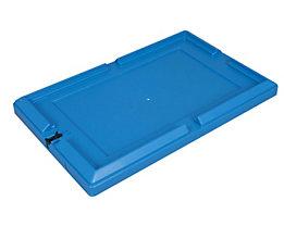 allit Deckel für Transportbehälter, VE 4 Stk - Verschlussdeckel inkl. Verschlussschieber, blau