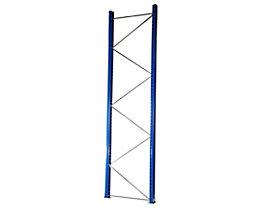 Palettenregal-Stützrahmen, Traglast max. 8500 kg - Stützrahmenhöhe 3990 mm, Rahmentiefe 1100 mm