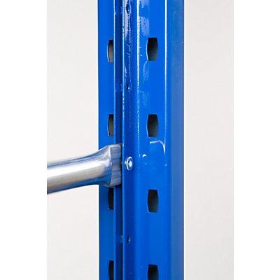 SLP Weitspannregal-Stützrahmen, kunststoffbeschichtet - Rahmenhöhe 3600 mm, Rahmentiefe 600 mm