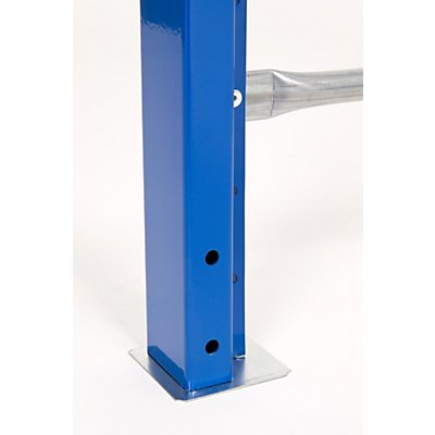 SLP Weitspannregal-Stützrahmen, kunststoffbeschichtet - Rahmenhöhe 2100 mm, Rahmentiefe 1000 mm