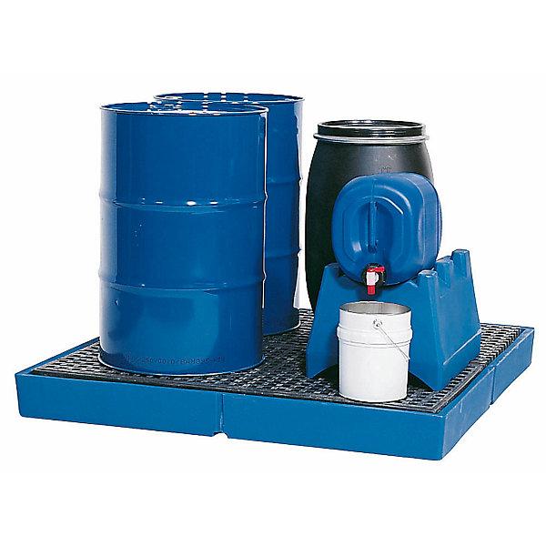 Image of Asecos Kunststoff-Flachwanne - mit PE-Gitterrost Auffangvolumen 220 Liter