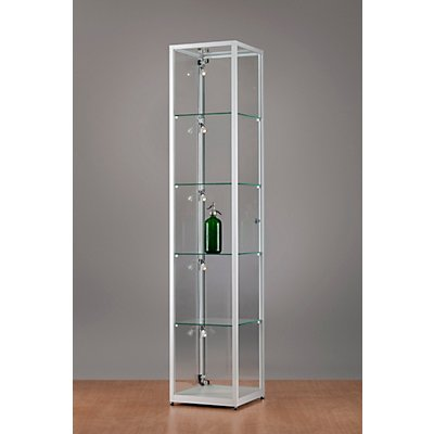 sdb glasvitrine mit led beleuchtung h he 1984 mm. Black Bedroom Furniture Sets. Home Design Ideas