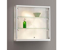 Wandvitrine mit LED-Beleuchtung - BxTxH 1000 x 300 x 984 mm