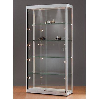 Glasvitrine mit Beleuchtung - HxBxT 2000 x 1000 x 400 mm