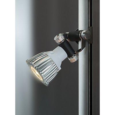 SDB Wandvitrine, BxTxH 1000 x 300 x 984 mm - LED-Beleuchtung, Leuchtkopf-Ø 35 mm