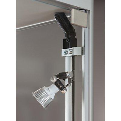 SDB Vitrine mit LED-Beleuchtung - HxBxT 2000 x 1000 x 400 mm