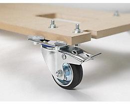 Bodenplatte mit Rollen - für BxT 1000 x 400 mm