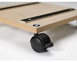 Bodenplatte mit Rollen - für BxT 500 x 500 mm