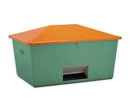 CEMO Streugutbox aus GfK - Volumen 2200 l, mit Entnahmeöffnung