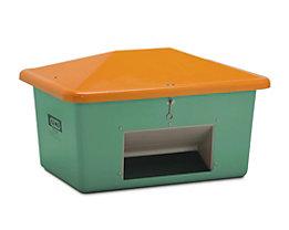 CEMO Streubehälter aus GfK - Volumen 550 l, mit Entnahmeöffnung