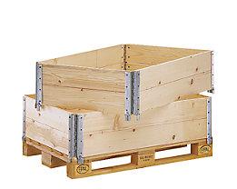 Holzaufsatzrahmen für Palette im Euroformat - diagonal klappbar, mit 4 Scharnieren - Nutzhöhe 300 mm
