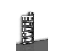 Akten-Steckregal, einseitig, anthrazitgrau - Fachbreite 750 mm, 6 Böden