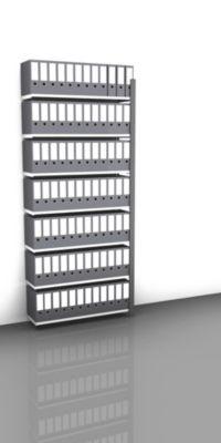 Akten-Steckregal, einseitig, anthrazitgrau - Fachbreite 1000 mm, 7 Böden
