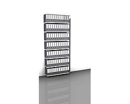 Akten-Steckregal, einseitig, anthrazitgrau - Fachbreite 1000 mm, 7 Böden, Anbauregal