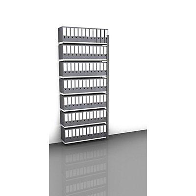 hofe Akten-Steckregal, einseitig, anthrazitgrau - Fachbreite 1000 mm, 7 Böden