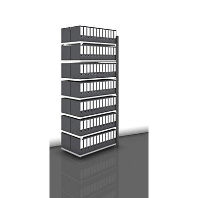Akten-Steckregal, beidseitig, anthrazitgrau - Fachbreite 1000 mm, 7 Böden