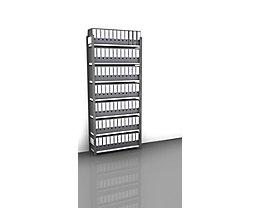 Akten-Steckregal, einseitig, anthrazitgrau - Fachbreite 1000 mm, 7 Böden, Grundregal