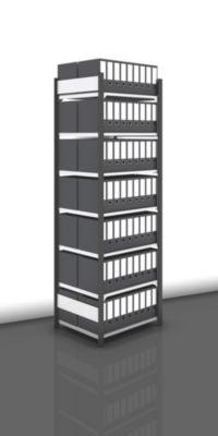 Akten-Steckregal, beidseitig, anthrazitgrau - Fachbreite 750 mm, 7 Böden