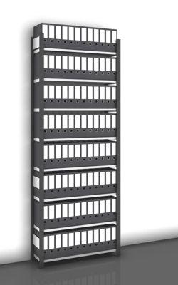 Akten-Steckregal, einseitig, anthrazitgrau - Fachbreite 1000 mm, 8 Böden