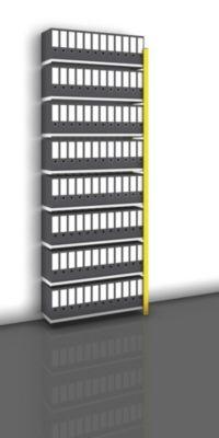 Akten-Steckregal, einseitig, melonengelb - Fachbreite 1000 mm, 8 Böden
