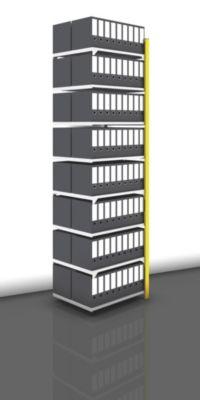 Akten-Steckregal, beidseitig, melonengelb - Fachbreite 750 mm, 8 Böden