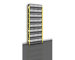 Akten-Steckregal, einseitig, melonengelb - Fachbreite 1000 mm, 8 Böden, Grundregal