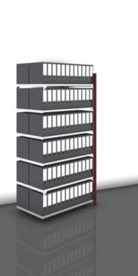 Akten-Steckregal, beidseitig, purpurrot - Fachbreite 1000 mm, 6 Böden