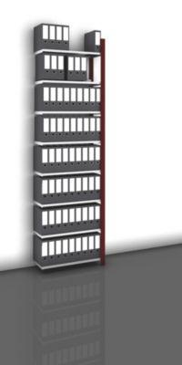 Akten-Steckregal, einseitig, purpurrot - Fachbreite 750 mm, 8 Böden
