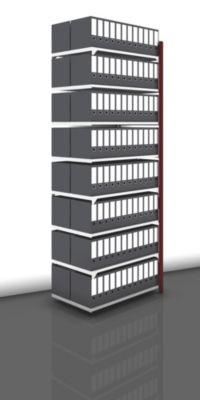 Akten-Steckregal, beidseitig, purpurrot - Fachbreite 1000 mm, 8 Böden