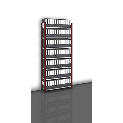 hofe Akten-Steckregal, einseitig, purpurrot - Fachbreite 1000 mm, 7 Böden