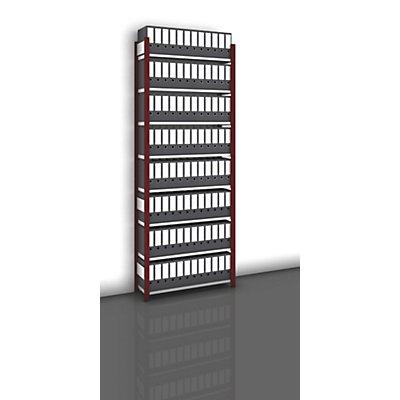hofe Akten-Steckregal, einseitig, purpurrot - Fachbreite 1000 mm, 8 Böden