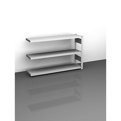 hofe Sideboard-Steckregal, lichtgrau - Höhe 825 mm, 3 Böden, Anbauregal