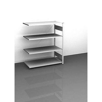hofe Sideboard-Steckregal, lichtgrau - Höhe 1200 mm, 4 Böden, Anbauregal