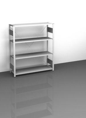 Sideboard-Steckregal, lichtgrau - Höhe 1200 mm, 4 Böden, Grundregal