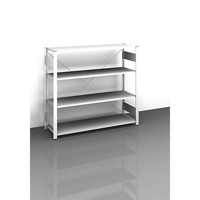 hofe Sideboard-Steckregal, lichtgrau - Höhe 1200 mm, 4 Böden, Grundregal