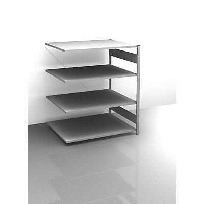 hofe Sideboard-Steckregal, verzinkt - Höhe 1200 mm, 4 Böden, Anbauregal