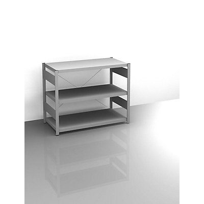 Sideboard-Steckregal, verzinkt - Höhe 825 mm, 3 Böden, Grundregal