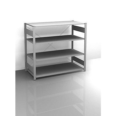 hofe Sideboard-Steckregal, verzinkt - Höhe 1200 mm, 4 Böden, Grundregal