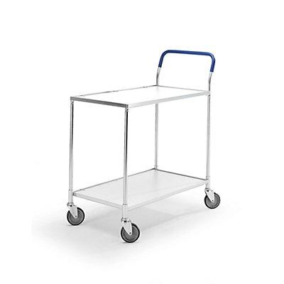 Tischwagen KOMFORT - Böden weiß, LxBxH 840 x 435 x 900 mm