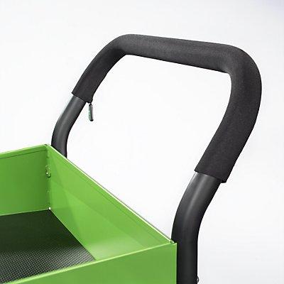 Servierwagen DESIGN - LxBxH 865 x 505 x 980 mm, schwarz/grün