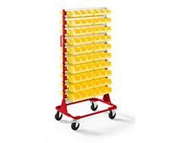 Rayonnage mobile hauteur 1588 mm - rayonnage mobile avec 120 bacs à bec