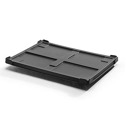Deckel aus ABS-Recyclingkunststoff - für LxB 800 x 600 mm, schwarz