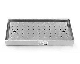 Lochblechabdeckung für Wannenboden - für Schrank mit ausziehbarem Wannenboden - für BxT 950 x 500 mm