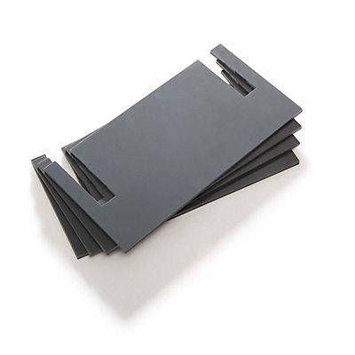 Lista Nivellierplatten - PVC, grau, VE 4 Stk